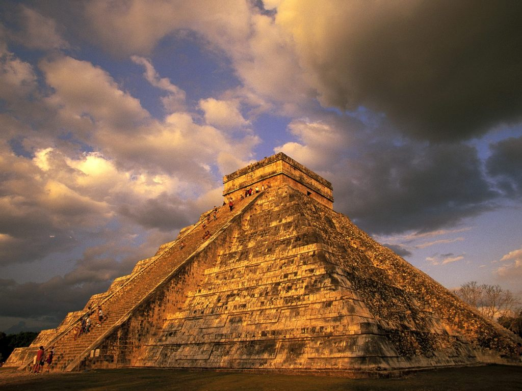 Ancient Mayan Temple Pyramid Chichen Itza Mexico